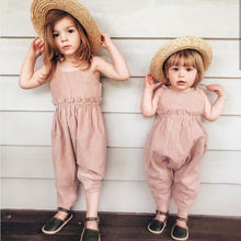Pudcoco Girl Jumpsuits 6M-5Y Toddler Kids Baby Girl Strap Ro