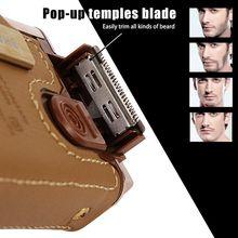 Kemei km-5600 2 in 1 Leather Case Men Electric Shaver Recipr