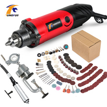 Electric Drill 500W Dremel Rotary Tool Variable Speed Mini Drill Engraver 275pcs Mini Polishing Machine Power Tools anime cosplay props fox ears and tail set spice and wolf holo plush long fur neko ears tail party halloween costume accessories