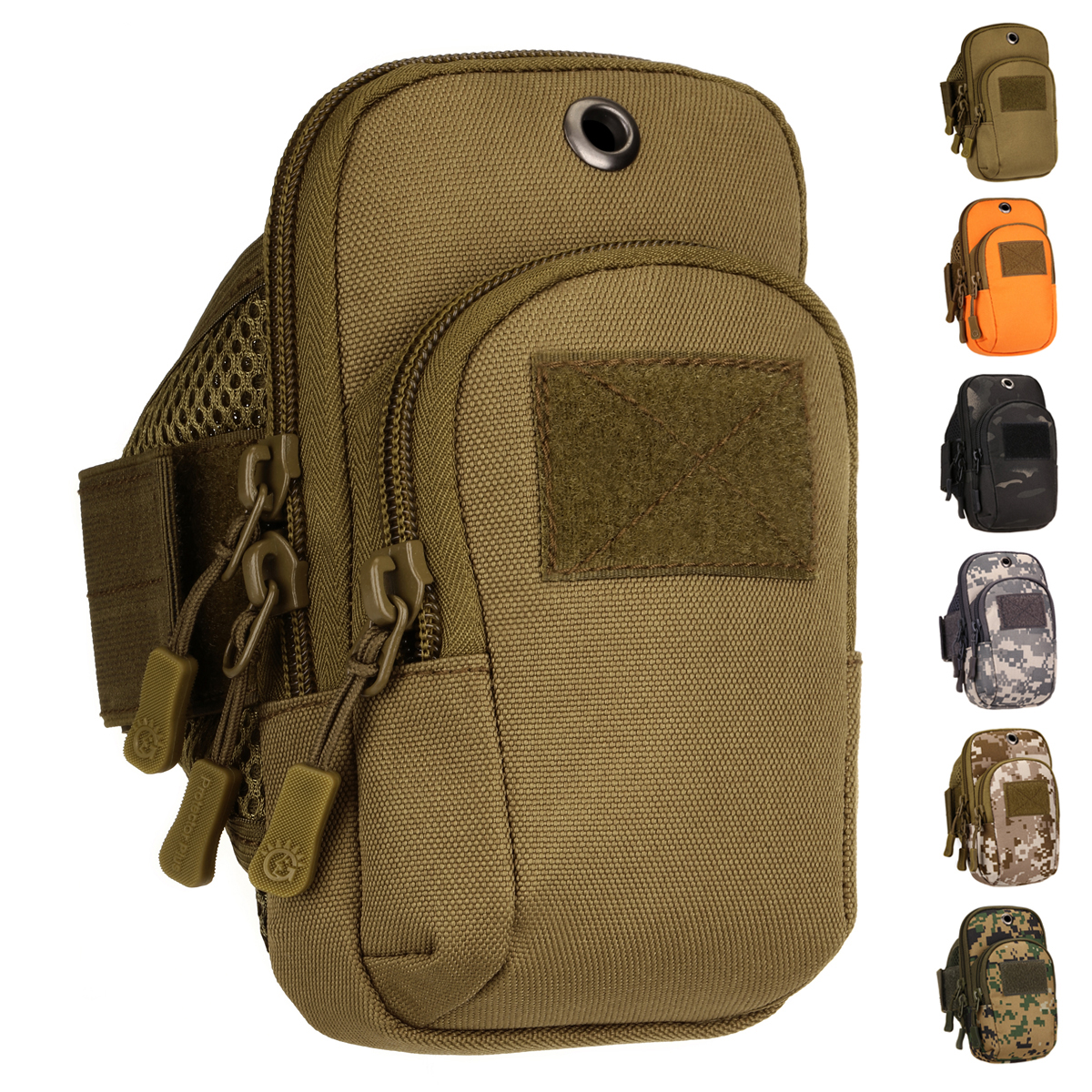 Motorcycle Riding Cell Phone Case Bags Cigarette Pocket Camouflage High Quality Military Assault Men Nylon Accessory Arm Bag