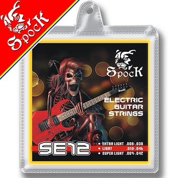 Spock SE12 Electric Guitar Strings 009-042 inch Nickel Plated High Carbon Steel Core Nickel Alloy Wound image