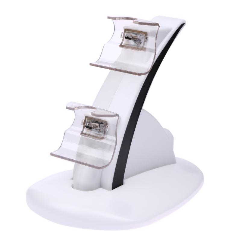 Dual USB Charging Charger Dock Stand Cradle Docking Station for XBOX ONE Game Gaming Console Controller White For Game Charges image
