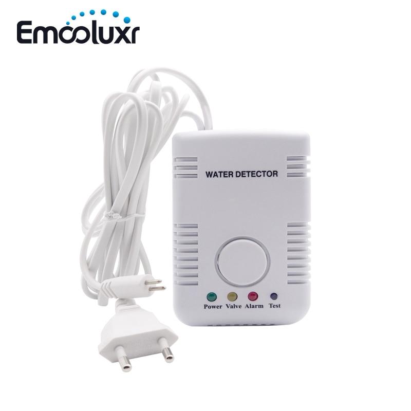 Wholesales 50pcs Water Leak Detector Portable AC Plug-in Water Leakage Alarm Sensor With 1.5meters Water Sensing Cable Probe