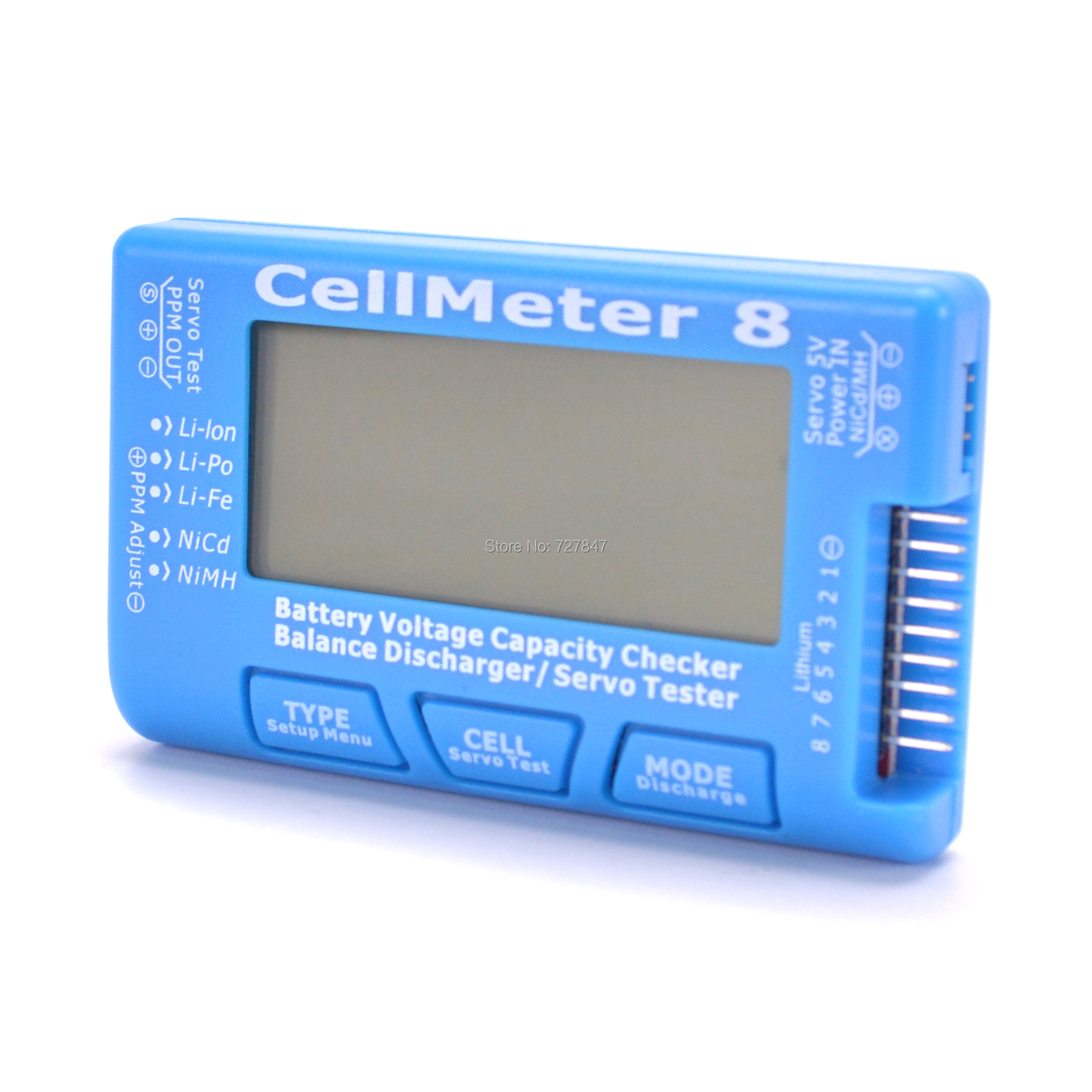 CellMeter 8 Multifunctional Digital Power Servo Tester 2S-8S with discharge & backlight function For RC Airplane Spare Parts image