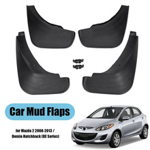 Car Mud Flaps For Mazda 2/Demio DE Hatchback 2008 2009 2010 2011 2012 2013 Fender Splash Guards Mudflaps Mudguard Accessories