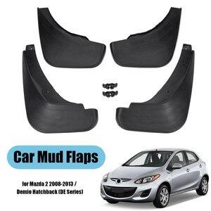 Image 1 - Samochód Mud Flaps dla Mazda 2/Demio DE Hatchback 2008 2009 2010 2011 2012 2013 błotnik Splash Guards Mudflaps błotnik akcesoria