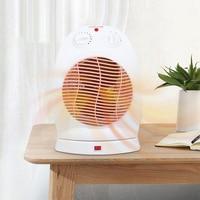 Fan Heater 2 Heat Settings Mini Electric Air Heater Powerful Warm Blower Fast Heater Fan Stove Radiator Room Warmer For Home