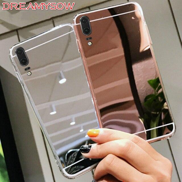 Hiệu Ứng gương Dành Cho Huawei P30 Pro P20 Mate20 Lite/Pro Ốp lưng trên Nova 4 3 3i 3E P thông minh 2019 P10 P9 P8 mềm TPU Ốp Lưng Silicon