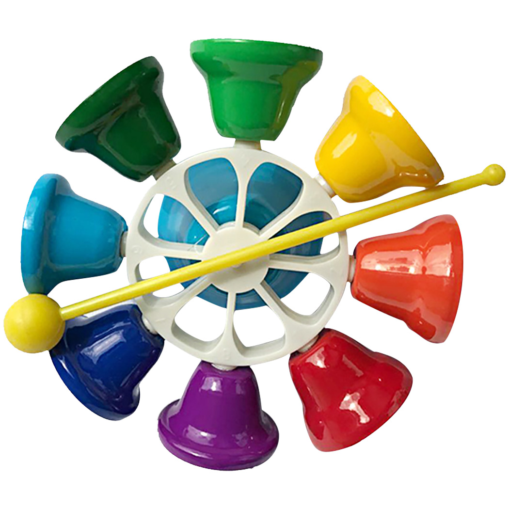 Hand Percussion Bell 8 Note Diatonic Metal Bell Hand Bell Musial Bell For Kids