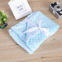 Blankets Warm Fleece Soft Baby Newborn Baby Stroller Sleep Cover Infant Bedding Quilt Swaddling Wrap Kids Bath Towel Bed Swaddle(China)