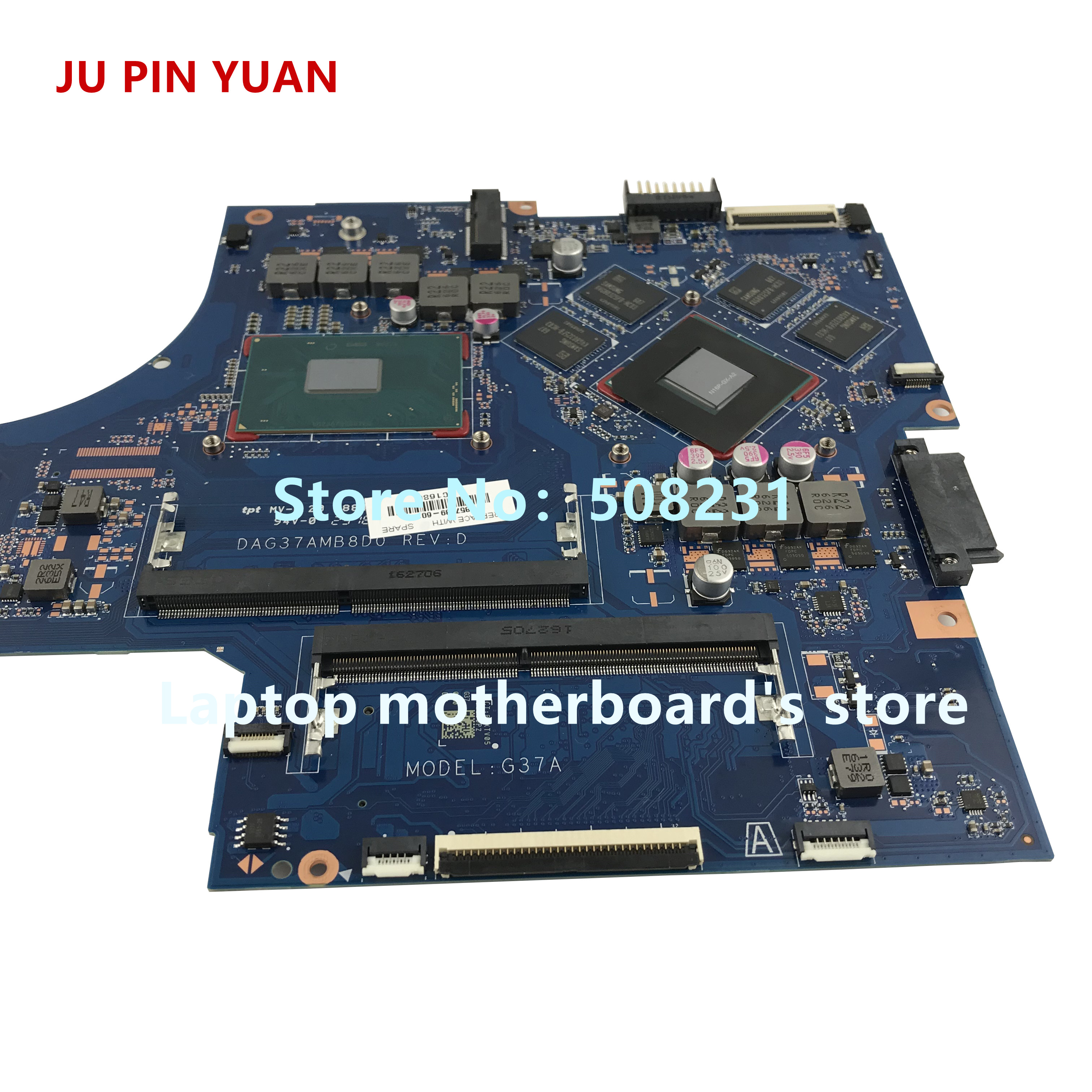 JU PIN YUAN 857389-601 857389-001 DAG37AMB8D0 G37A for HP NOTEBOOK 17-W 17-AB091MS laptop motherboard with 950M 4GB i7-6700HQ
