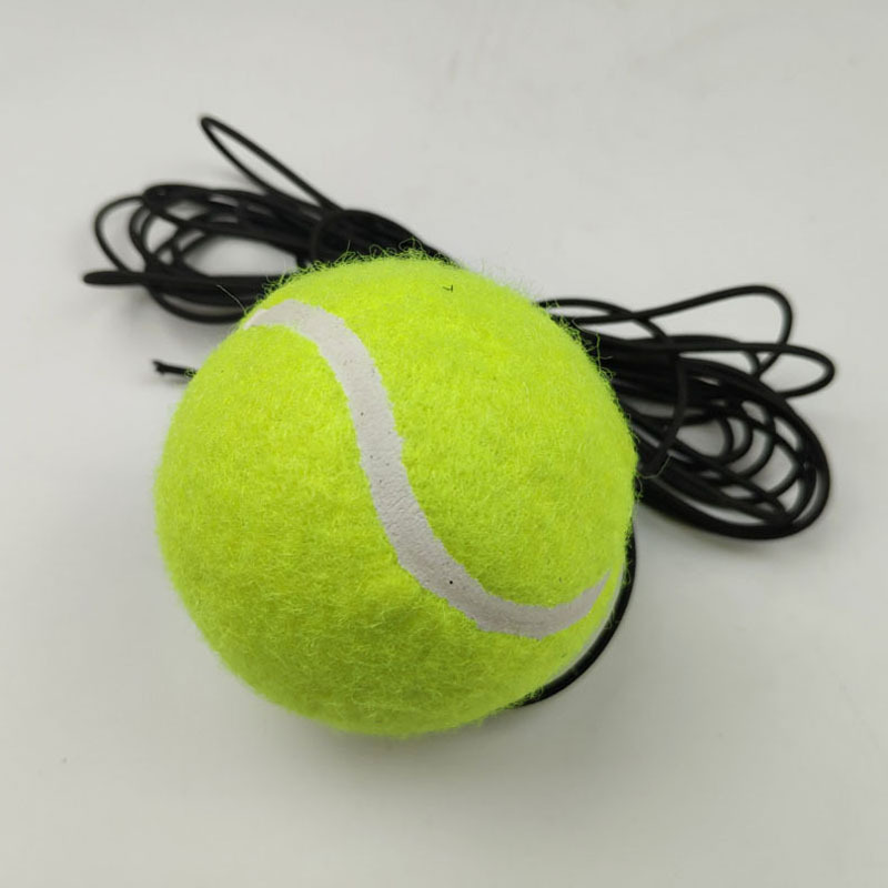 1pc Line Training Tennis Professional Rubber Tennis Ball High Resilience Durable Practice Ball School Club Competition Training