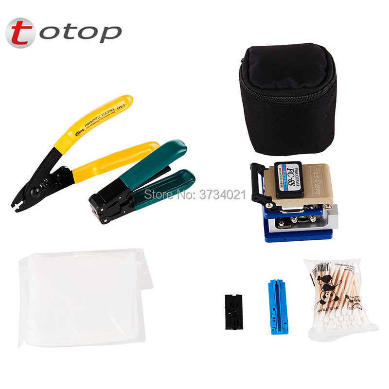 Fiber Optic FTTH Cold Joining Tool Kit with FC 6S Fiber Cleaver, CFS 2 Dual Port Miller wire Stripper, Wire stripper etc
