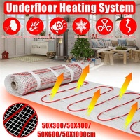 4 SIZES 150w/m2 infrared floor heating mat twin conductor electric warm strand mat kits with thermostat