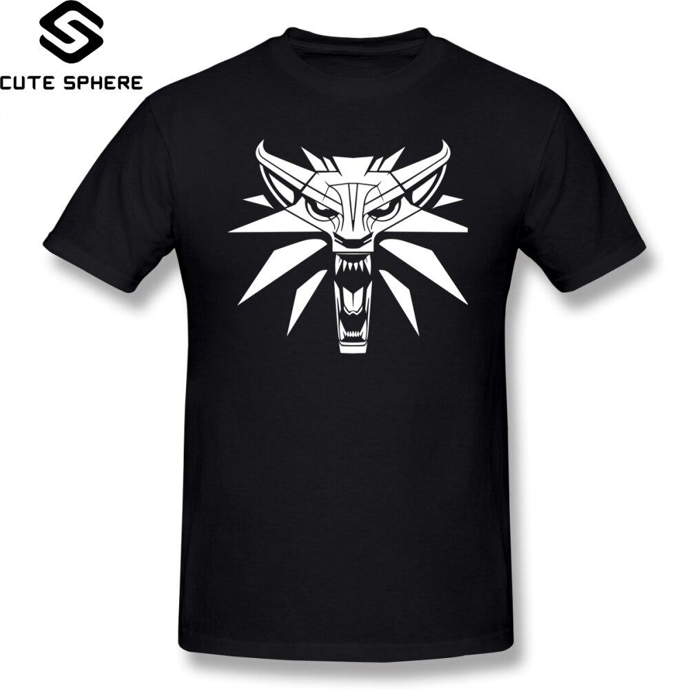 Gwent T Camicia Witcher Lupo Medaglione T-Shirt 6xl Degli Uomini Tee Shirt Moda Divertente Stampato Maniche Corte 100 Per Cento Cotone Tshirt