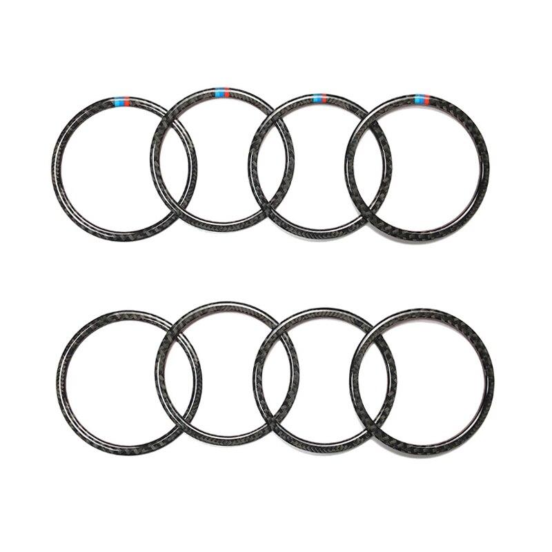 Для BMW 3 серии F30 3GT F34 2013 2014 2015 2016 2017 2018 4 шт автомобиля углеродного волокна кольцо динамика двери Крышка громкоговорителя-in Лепнина для интерьера from Автомобили и мотоциклы