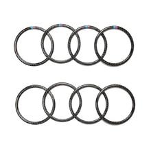 Para BMW Serie 3 F30 3GT F34 2013, 2014, 2015, 2016, 2017, 2018 4 Uds coche de fibra de carbono puerta altavoz anillo altavoz cubierta