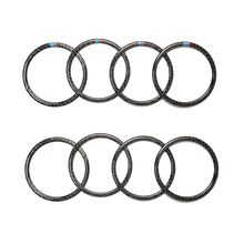 Pour BMW Série 3 F30 3GT F34 2013 2014 2015 2016 2017 2018 4 pièces De Voiture En Fiber De Carbone Porte Anneau De Haut Parleur Haut Parleur Couverture