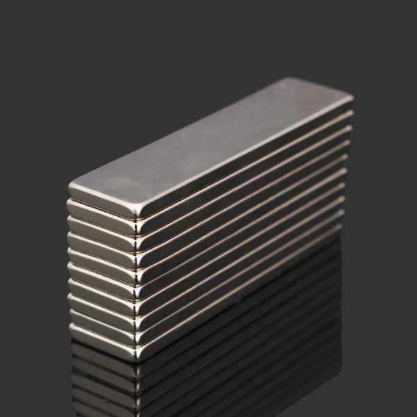 10pcs N52 40x10x2mm Super Strong Block Cuboid Magnets Rare Earth Neodymium Magnets