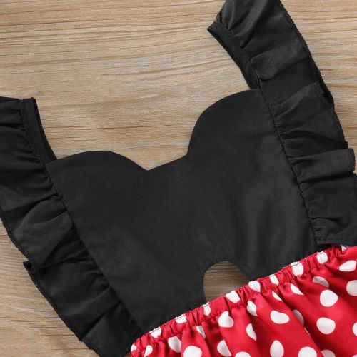 เด็กทารกเด็กหญิง Polka Dot Bowknot ชุดเดรสฤดูร้อน Lace Up Backless ชุดเจ้าหญิงพรรค Tutu ชุด