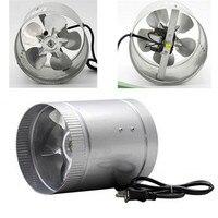 Iron Exhaust Fan 6Inch 37W 220W 60HZ 240CFM Inline Exhaust Vent Duct Fan Ventilation Hydroponic Air Blower Low Noise