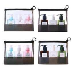 3 шт./компл. 100 мл пополняемые бутылки бутыль с насосом для пены лосьон 150 портативный Travle шампунь жидкий насос бутылочки с Сумка для хранения