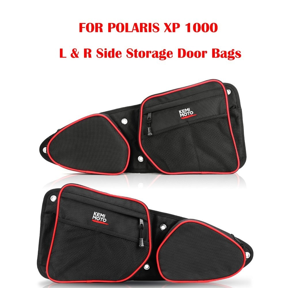 KEMIMOTO Driver Passenger Side Storage Door Bags Left and Right UTV for Polaris RZR XP 1000