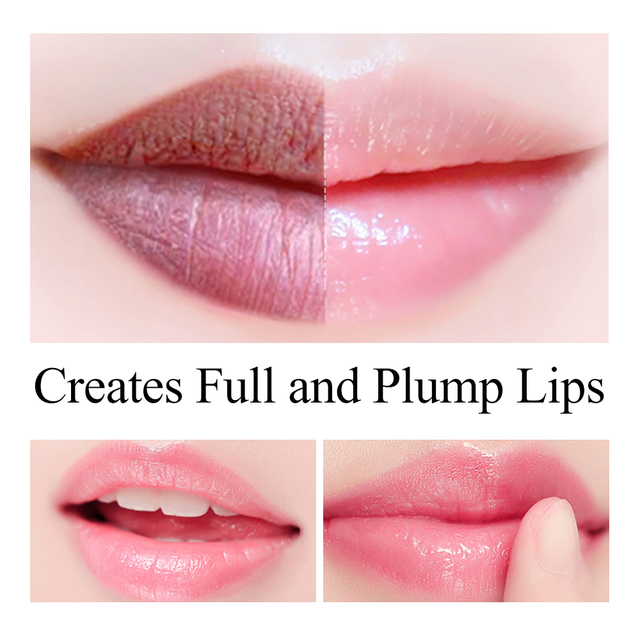 LANBENA  Lip Balm Natural Rose Extract Relieve Dryness Fade Lip Lines Nourishing Long-lasting  Lip Plumper  Daily Use Lip Care