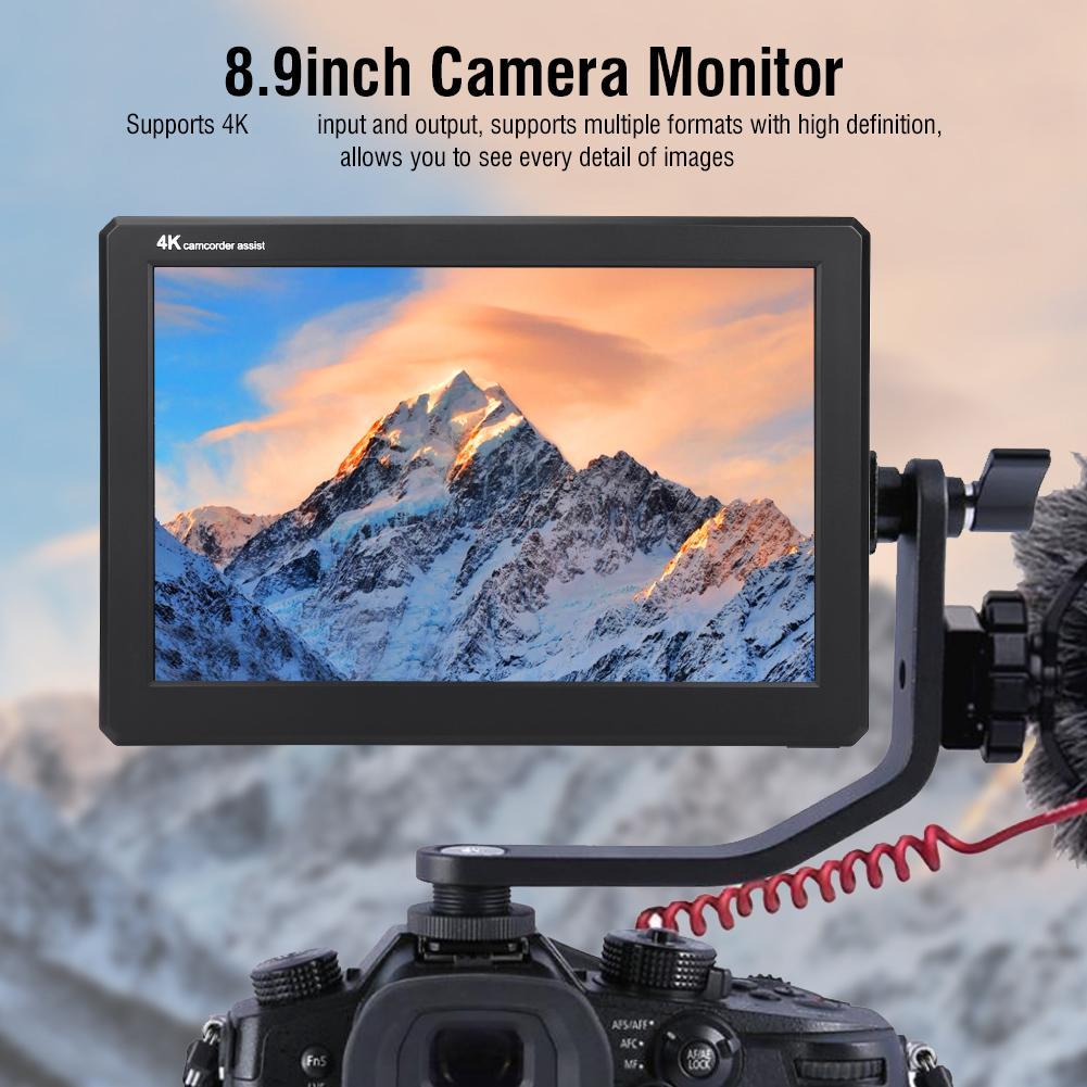 LILLIPUT A8S 8.9Inch IPS Screen 350nit 3G-SDI  4K HDMI Full Mini HD Monitor 1920X1200 Camera Field Monitor For DSLR Camerasmer