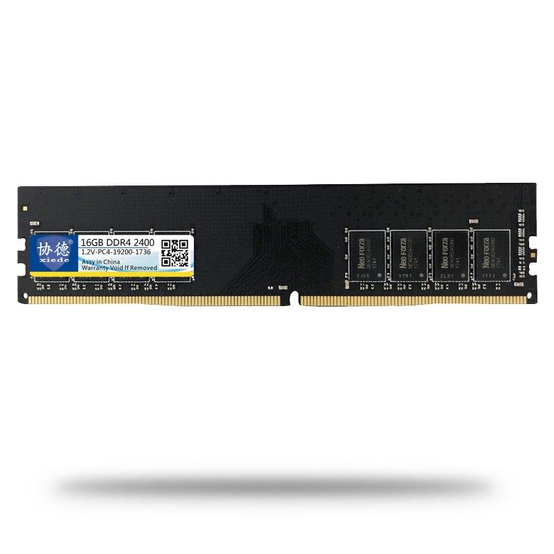 Xiede ordinateur de bureau mémoire Ram Module Ddr4 2400 16 Gb Pc4-19200 288Pin Dimm 2400 Mhz pour Amd/Inter X053