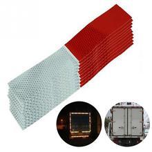 10個車反射ステッカー警告ストリップ反射トラック自動用品の夜安全運転、安全な赤白ステッカー5*30センチメートル
