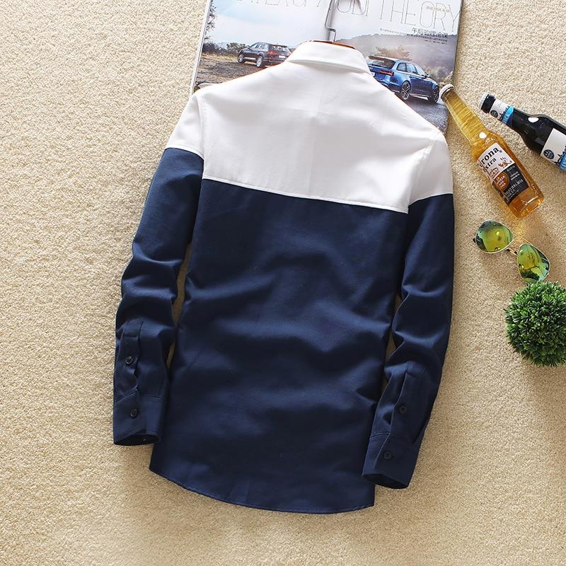 Men's Long Sleeve Shirt 2019 Spring And Autumn Top Leisure Sex Color Long Sleeve Shirt Trend Men's Cardigan Shirt Men stitching 2