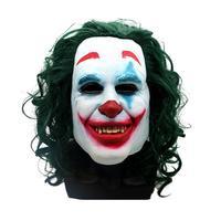 Joker Clown Mask Halloween Black White Scary Clown Mask Batman Spoof Horror Ball Party Cover Headgear For Adult Children Kids