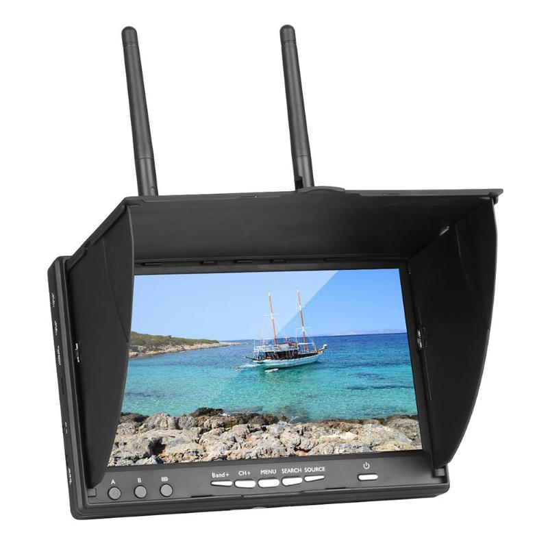 7 Inch TFT LCD Screen  With Build-in Battery Automatic Signal Search FPV Monitor LT5802S 5.8G 40CH LED Backlight Multicopter