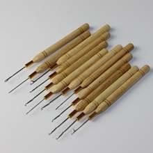 Isheeny иглы для затягивания десятков деревянной ручкой крюк