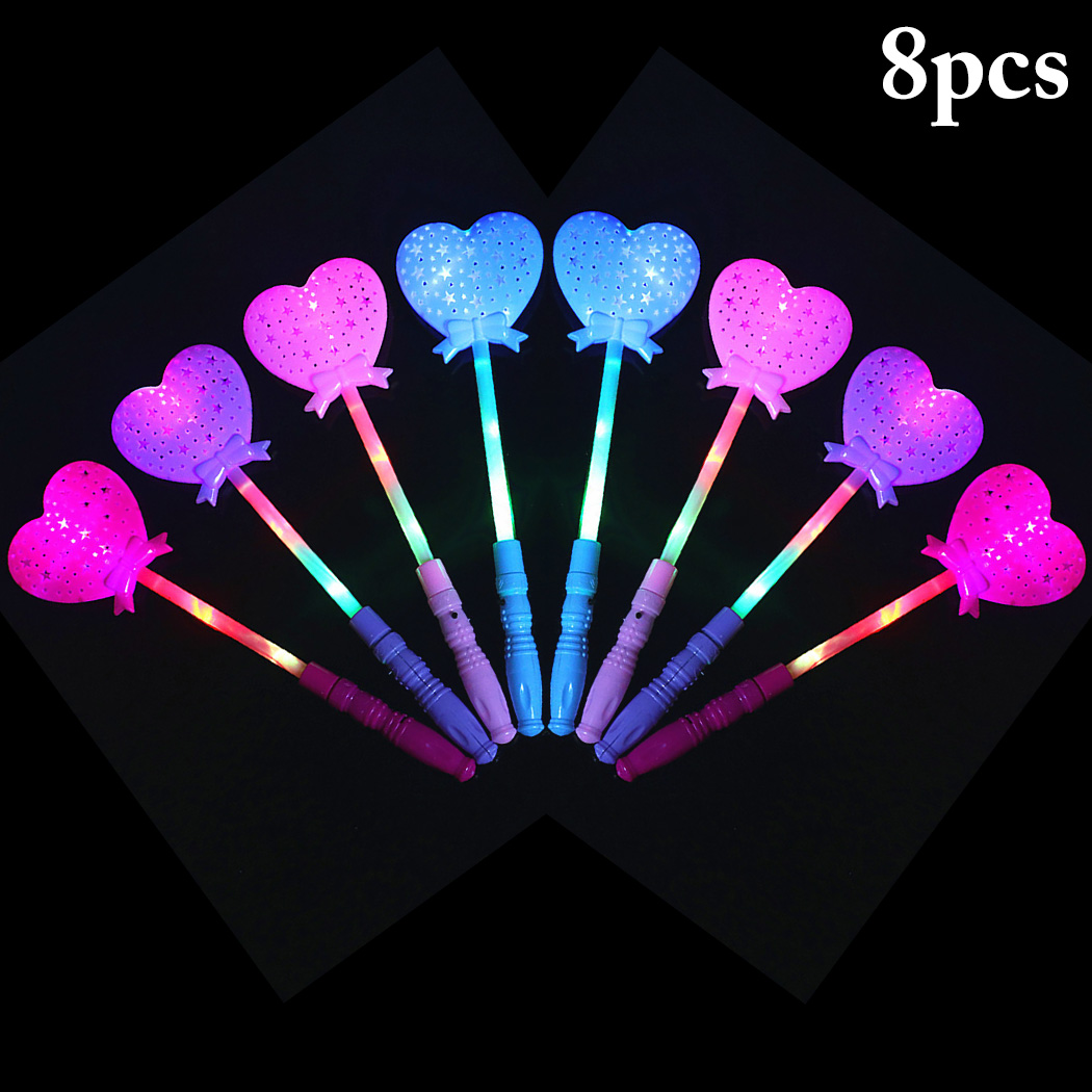 8PCS Party Light Sticks Cute Star Projector Party Wand Light Up Toy For Concert