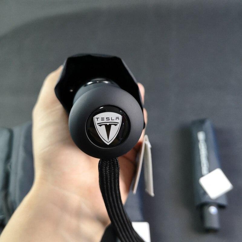 Accessoires de voiture pour Tesla Logo entièrement automatique autocollants de style de voiture parapluie pour Tesla modèle S modèle X modèle 3 modèle Y