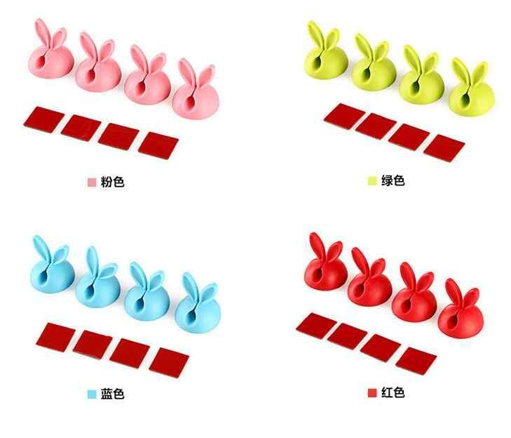 4 unids/lote w54 MESA DE w22 de conejo Cable creativa escuela suministros para estudiantes lindo organizador Clip