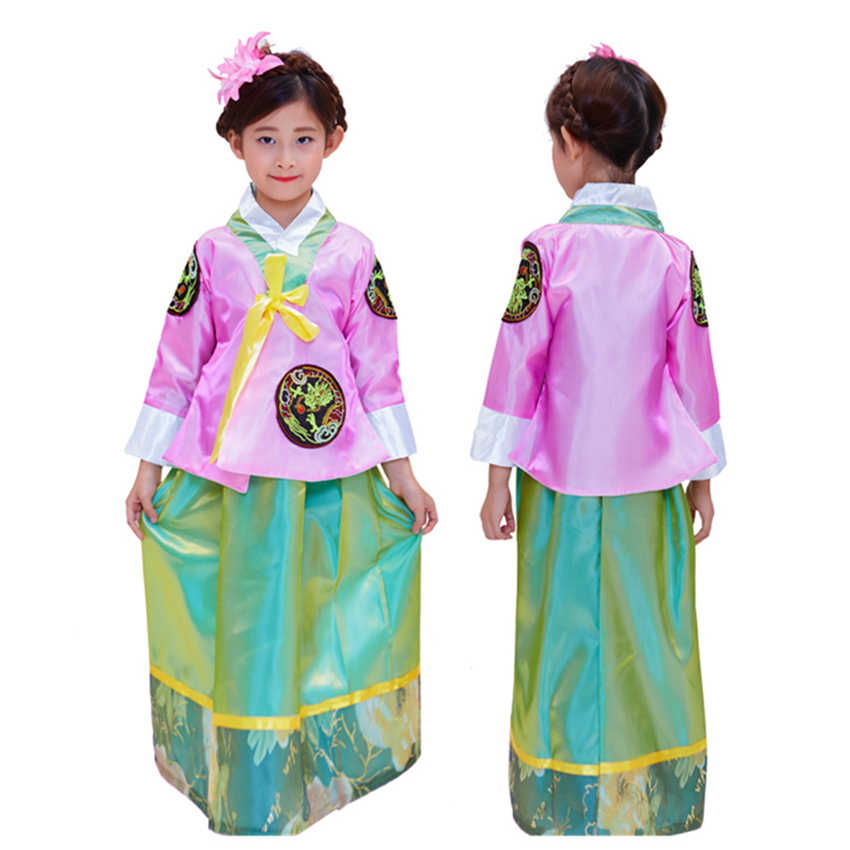 be34d7408 ... New Traditional Korean Hanbok Costumes for Girls Asian Dress Korea Kids  Party Dance Performance Cosplay Clothing ...
