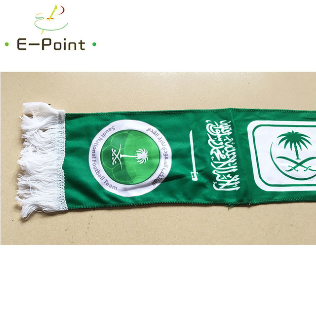 145*16 cm Size Saudi Arabia National Football Team Scarf for Fans 2018 Football World Cup Russia Double-faced Velvet Material