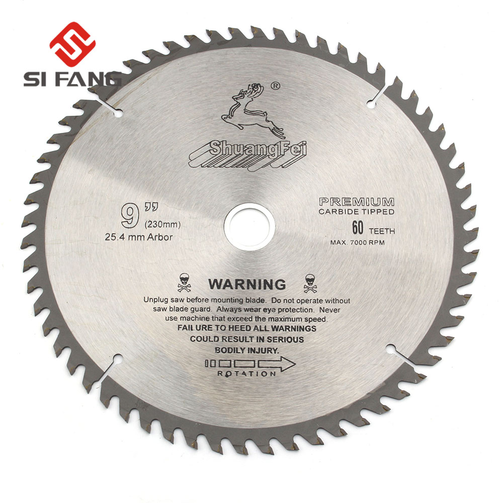 SI FANG 60-100Teeth 4-12Inch Carbide Alloy High Quality Circular Saw Blade Rotary Tool  Used For Cutting Wood and Aluminum Metal