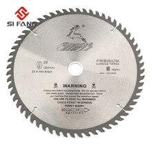 SI FANG hoja de sierra Circular de alta calidad, 60 100 dientes, aleación de carburo de 4 12 pulgadas, herramienta rotativa utilizada para cortar madera y Metal de aluminio