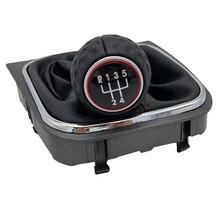 Schaltknauf Gamasche Boot Abdeckung Fall Kragen Für VW Volkswagen Golf 5 A5 MK5 GTI GTD Jetta R32 A6 golf 6 MK6 R20 2004 2014