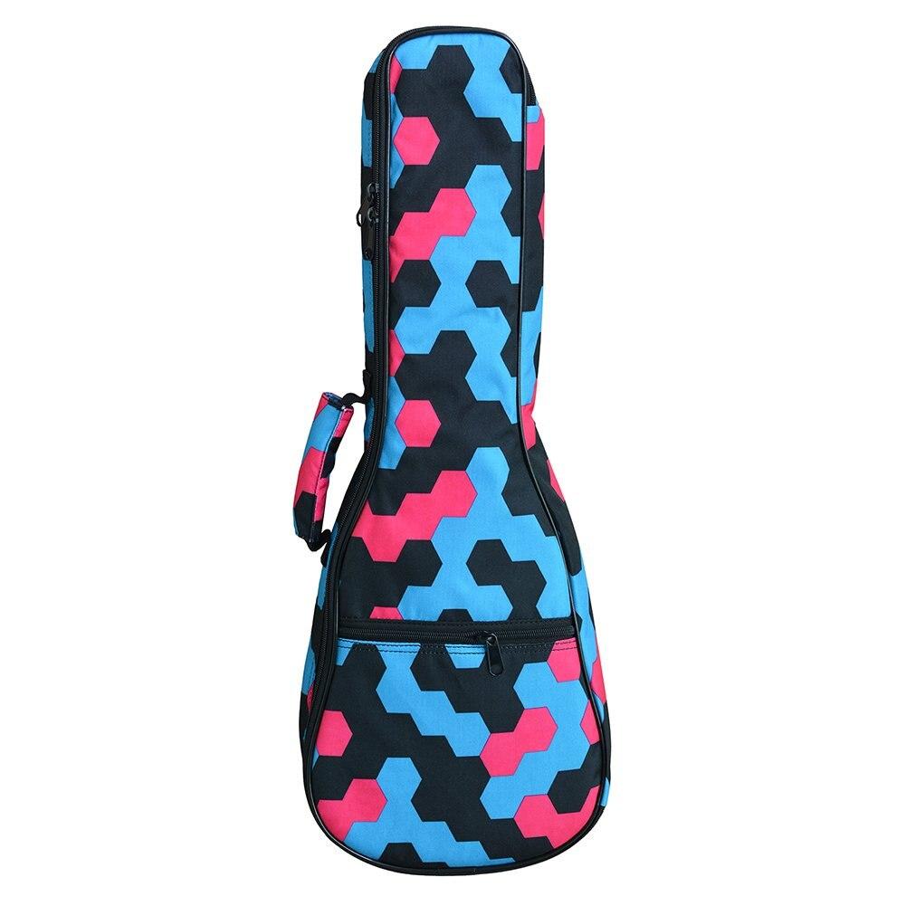 ADDFOO 21/ 23/ 26 Inch Ukulele Case Bag Durable With Storage Nylon Cotton For Tenor Soprano Concert Ukulele Mini Guitar Bag