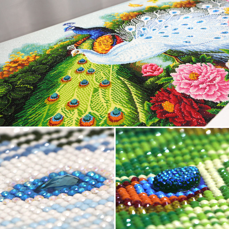 Diamond embroidery full round rhinestones,special shaped Diamond cross stitch pictures,Diamond mosaic houses,flowers peacock,5d title=