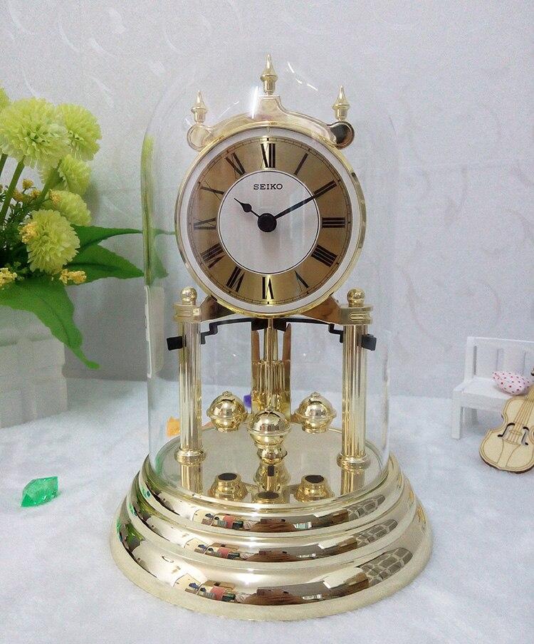 10 дюймов абсолютно новый бесшумный механизм точные настольные часы динамические хрустальные вращающиеся настольные часы домашний офисный...