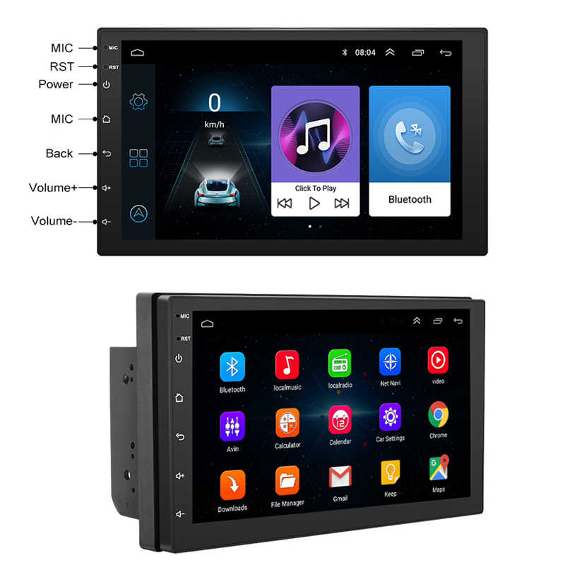 7 pulgadas Android8.1 2 Din Car DVD radio Multimedia Player navegación GPS Universal para Nissan peugeot toyota doble din Autoradio