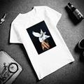 Skipoem забавная футболка птицы бабочка перо хлопковая Футболка с круглым вырезом размера плюс короткий рукав Брендовая женская футболка Femme - фото