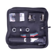 цены VIM Outdoor Mini Bike Pump & Tire Puncture Repair Kit Multi Function Tools For Bicycle Tire Repair Tools Bag Cycling Portable