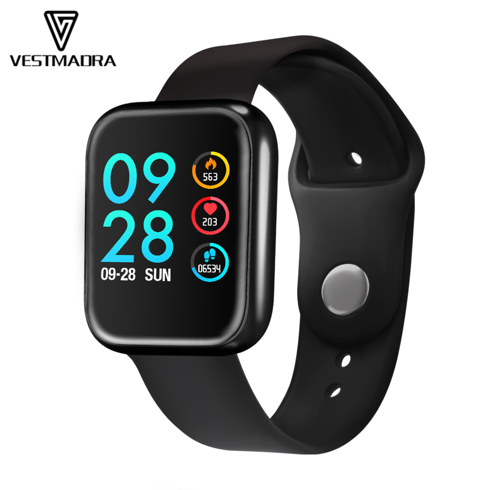 VESTMADRA P70 Smart Watch Waterproof Blood Pressure Oxygen Heart Rate Monitor Pedometer Activity Fitness Tracker Smartwatch